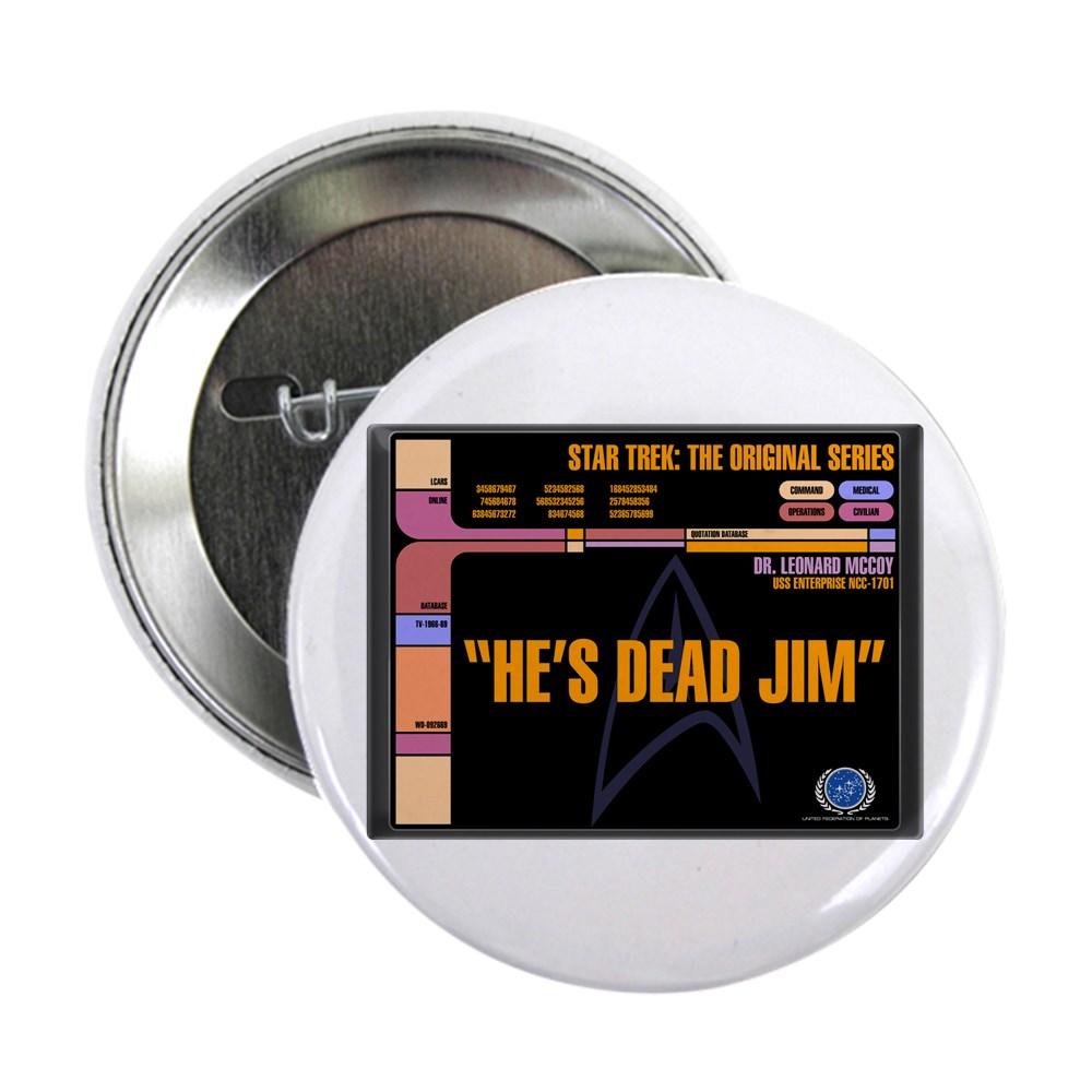 He's Dead Jim - LCARS Star Trek Quote 2.25
