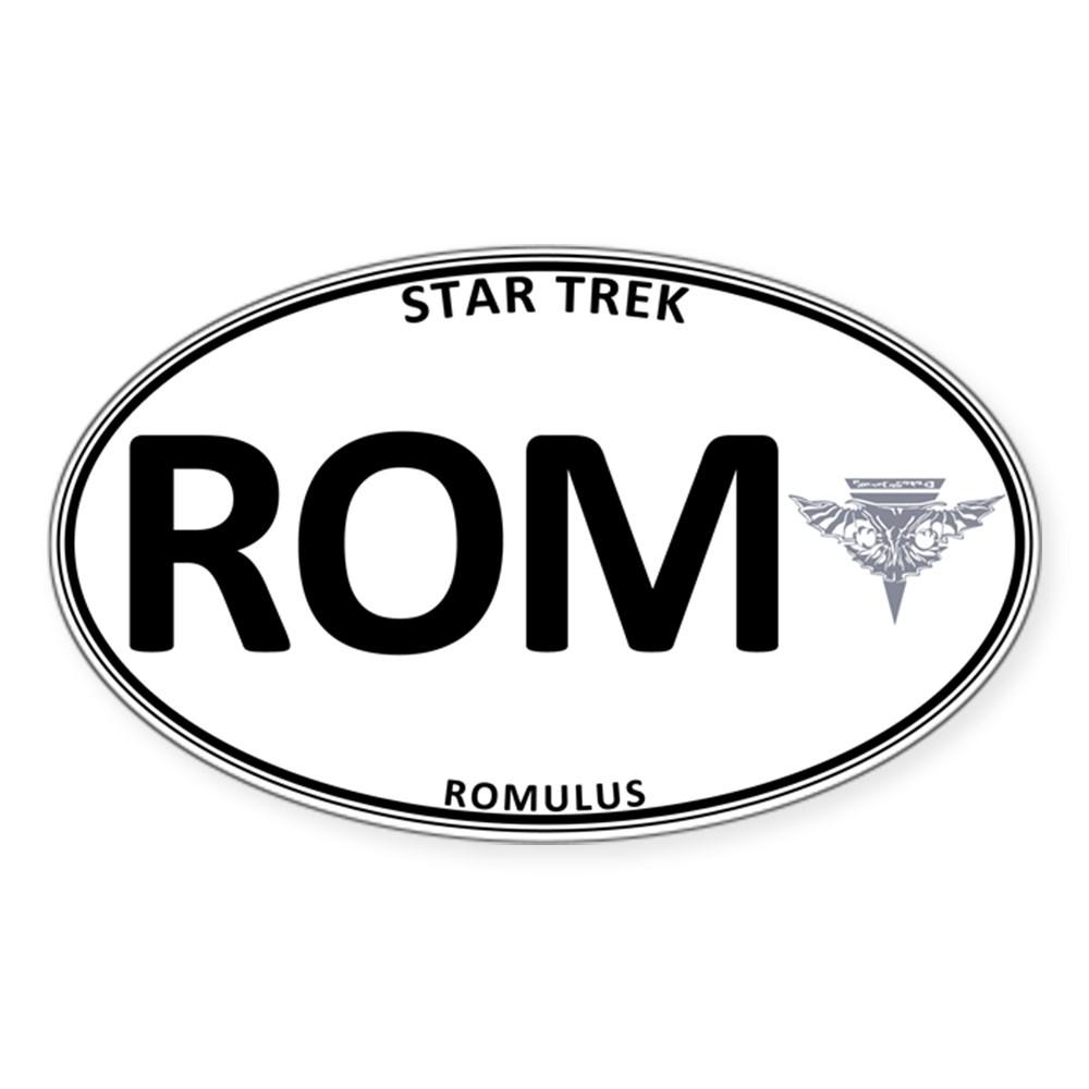 Star Trek: Romulus White Oval Oval Sticker
