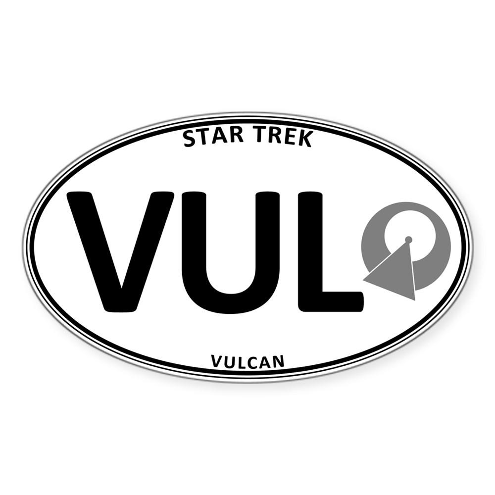 Star Trek: Vulcan White Oval Oval Sticker