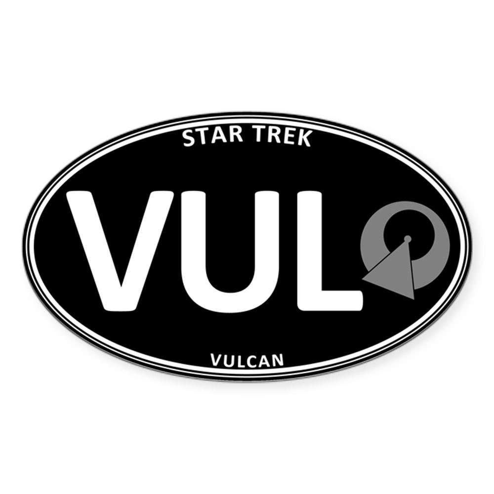Star Trek: Vulcan Black Oval Oval Sticker
