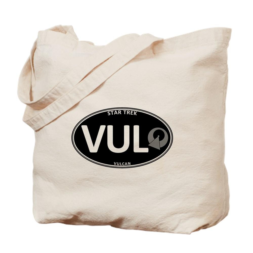 Star Trek: Vulcan Black Oval Tote Bag