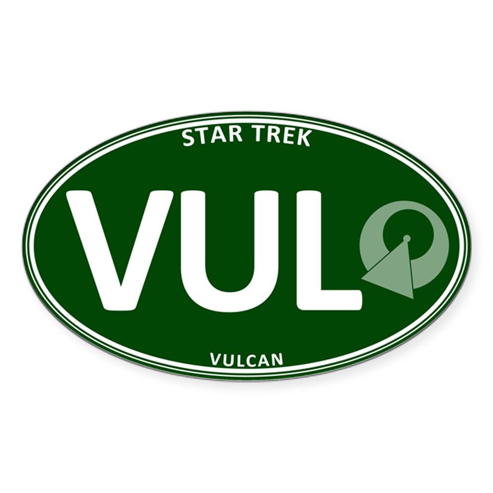 Star Trek: Vulcan Green Oval Oval Sticker