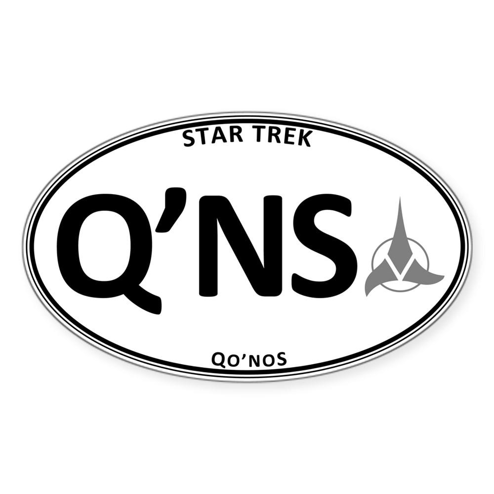 Star Trek: Qo'noS White Oval Oval Sticker