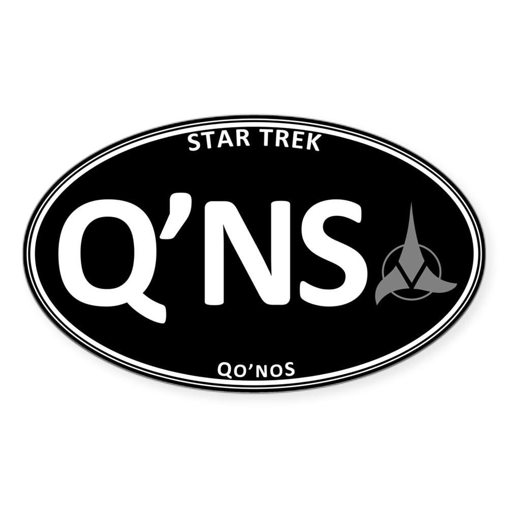 Star Trek: Qo'noS Black Oval Oval Sticker