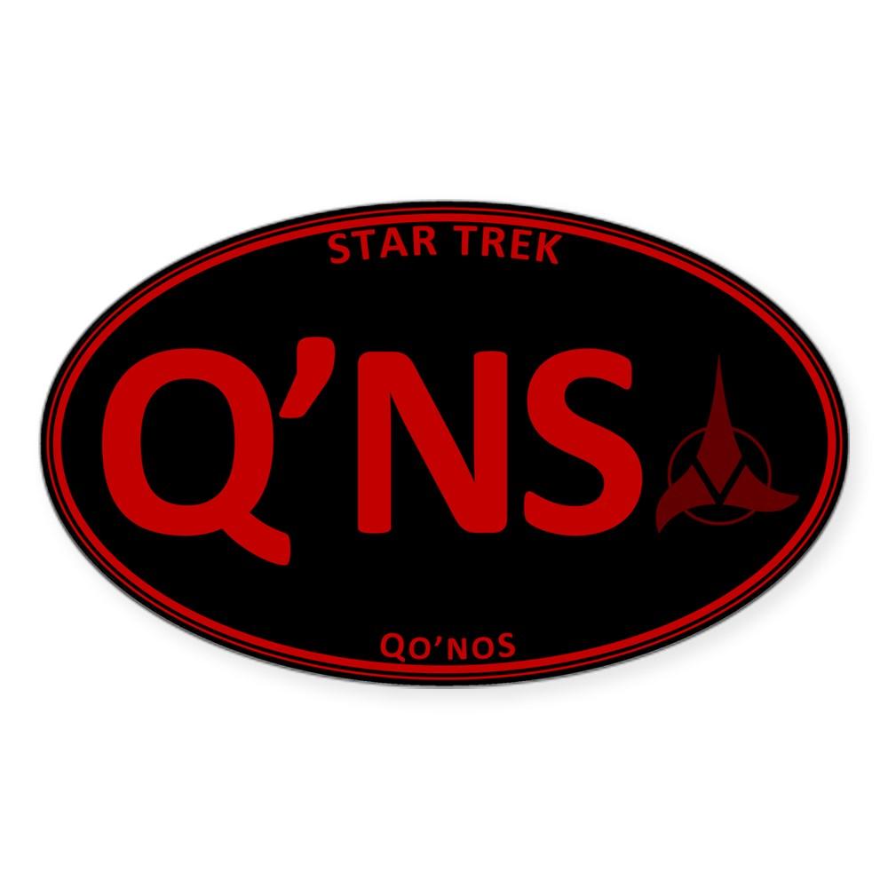 Star Trek: Qo'noS Red Oval Oval Sticker