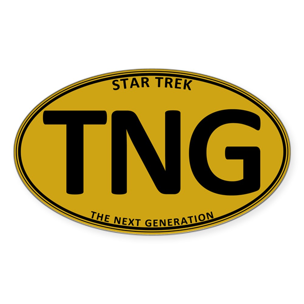 Star Trek: TNG Gold Oval Oval Sticker