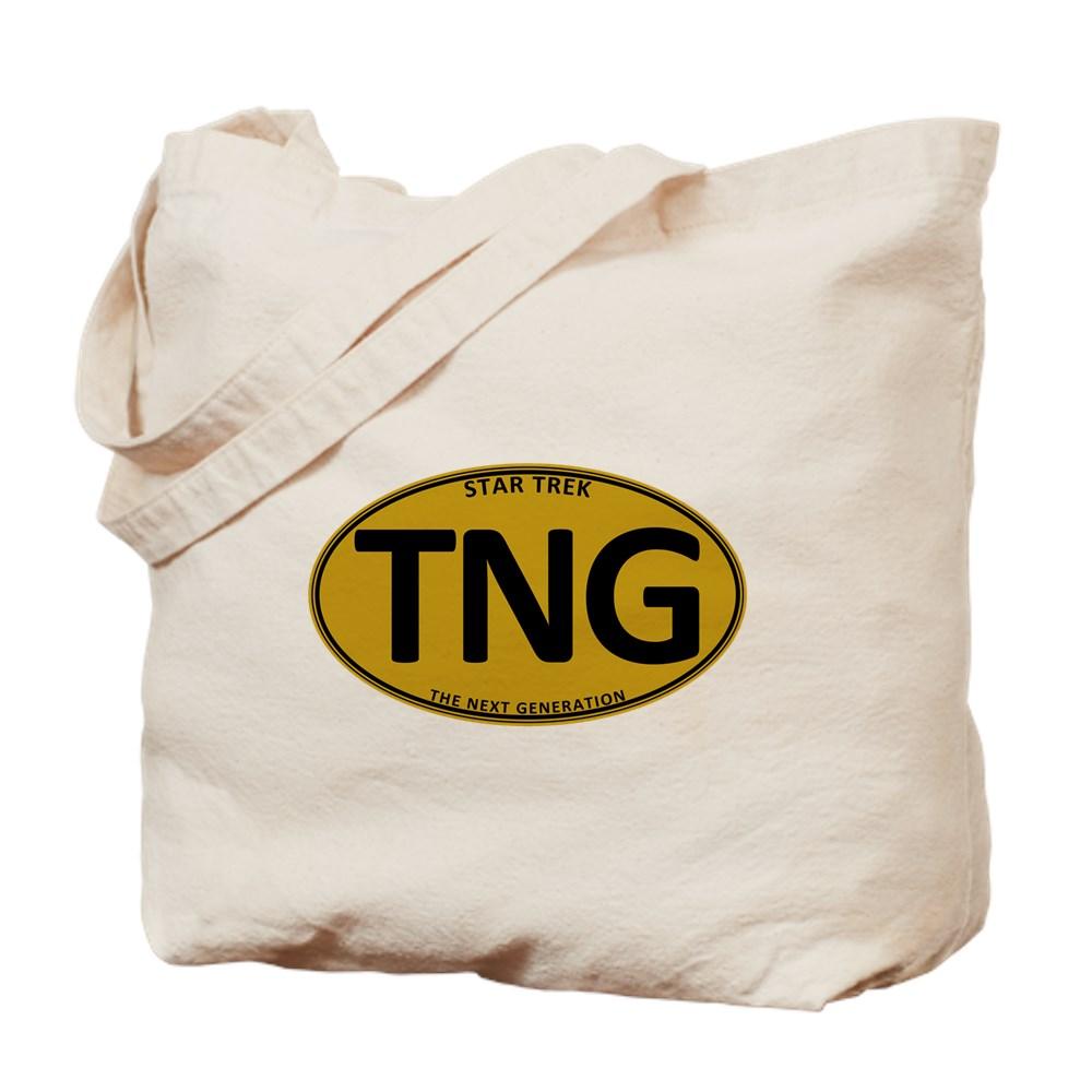 Star Trek: TNG Gold Oval Tote Bag