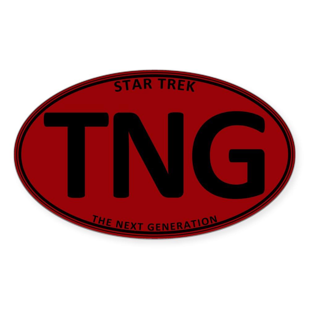Star Trek: TNG Red Oval Oval Sticker