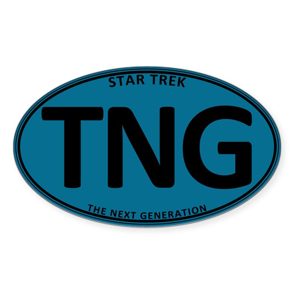 Star Trek: TNG Blue Oval Oval Sticker