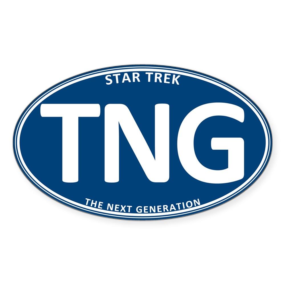 Star Trek: TNG Blue 2 Oval Oval Sticker