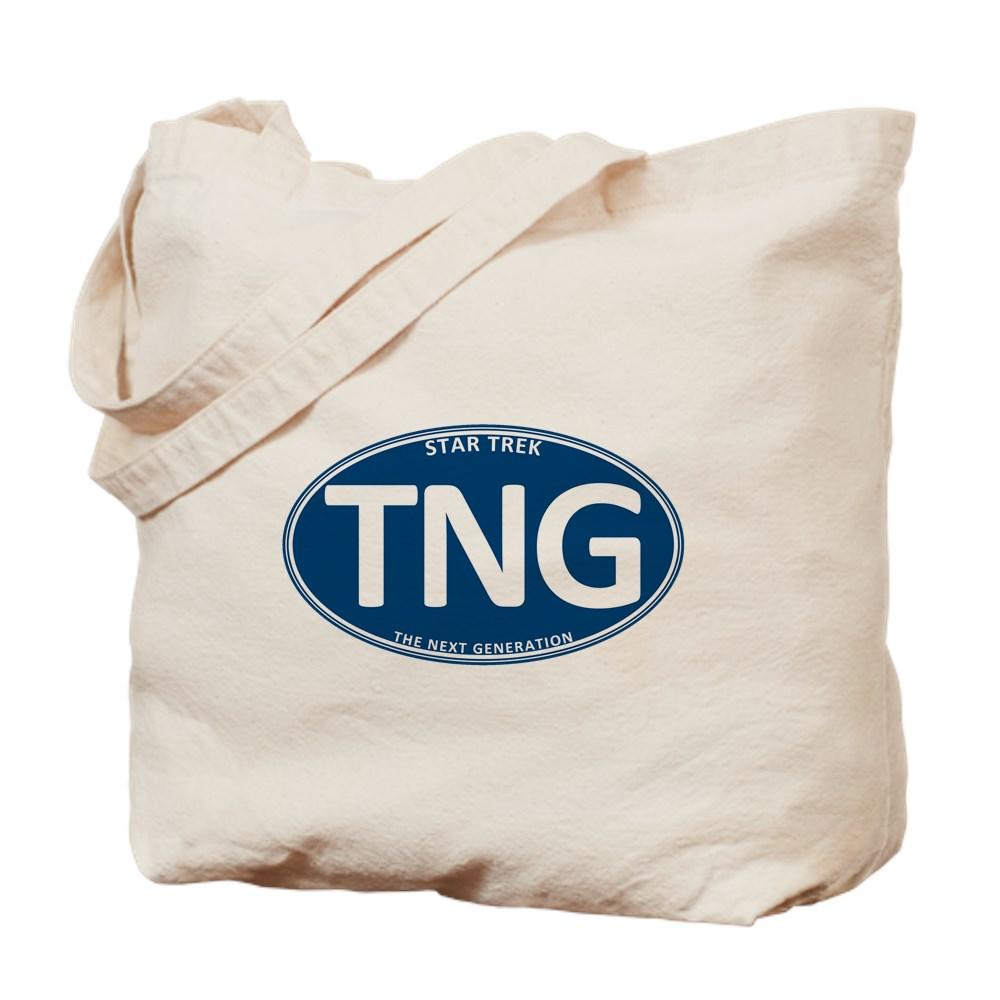 Star Trek: TNG Blue 2 Oval Tote Bag