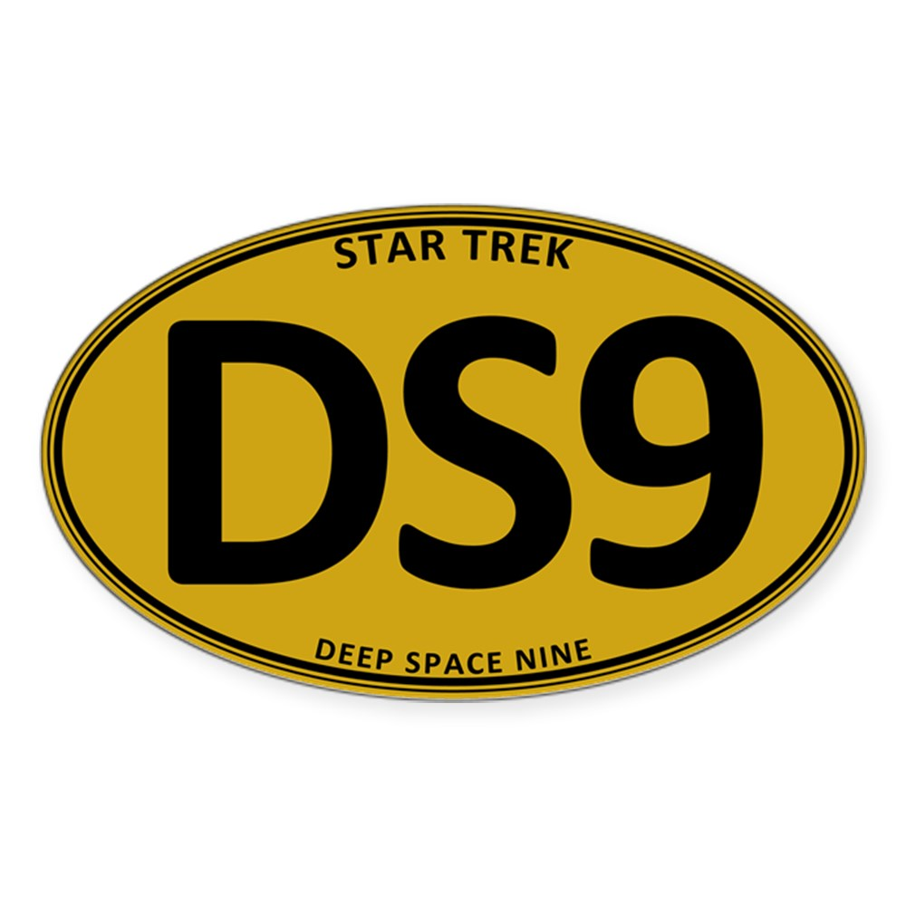 Star Trek: DS9 Gold Oval Oval Sticker