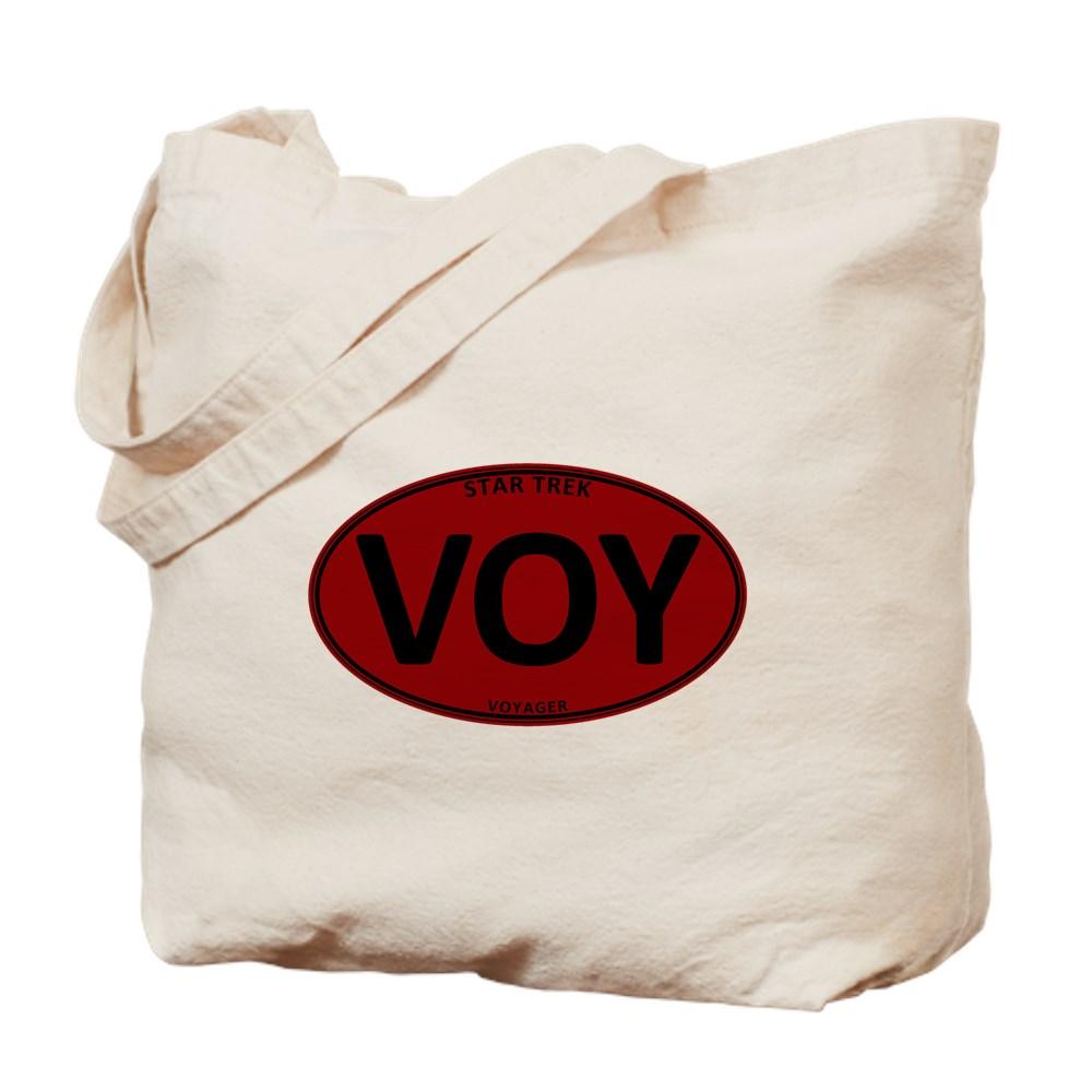 Star Trek: VOY Red Oval Tote Bag