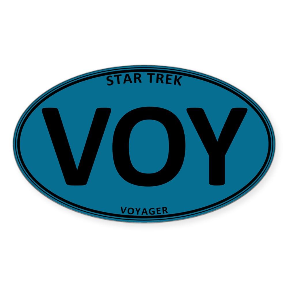 Star Trek: VOY Blue Oval Oval Sticker