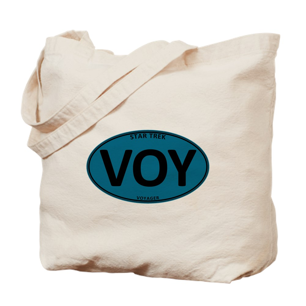 Star Trek: VOY Blue Oval Tote Bag