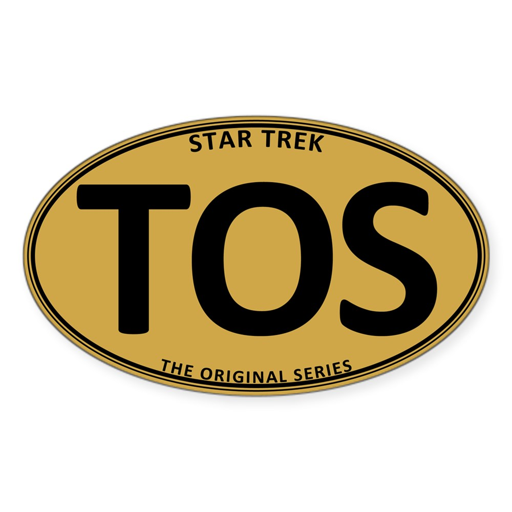 Star Trek: TOS Gold Oval Oval Sticker