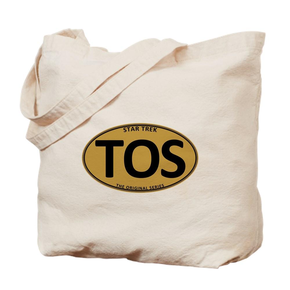 Star Trek: TOS Gold Oval Tote Bag