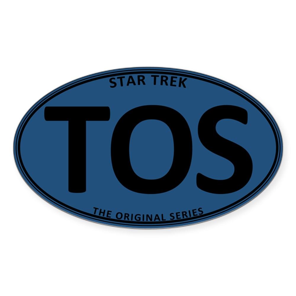 Star Trek: TOS Blue Oval Oval Sticker