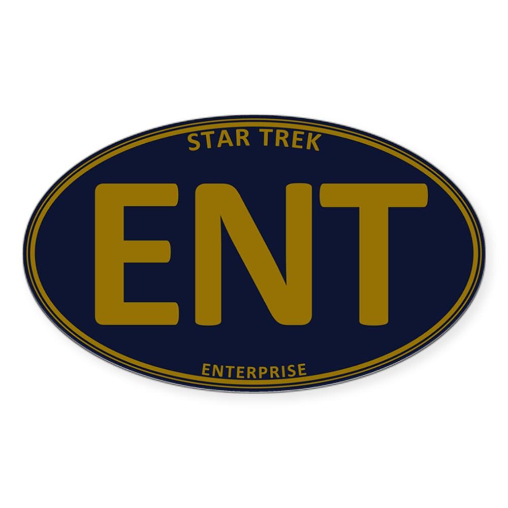 Star Trek: ENT Gold Oval Oval Sticker