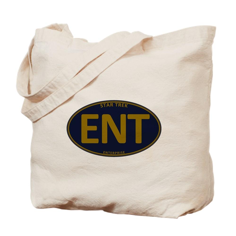 Star Trek: ENT Gold Oval Tote Bag