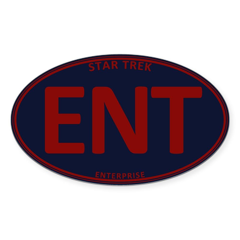 Star Trek: ENT Red Oval Oval Sticker