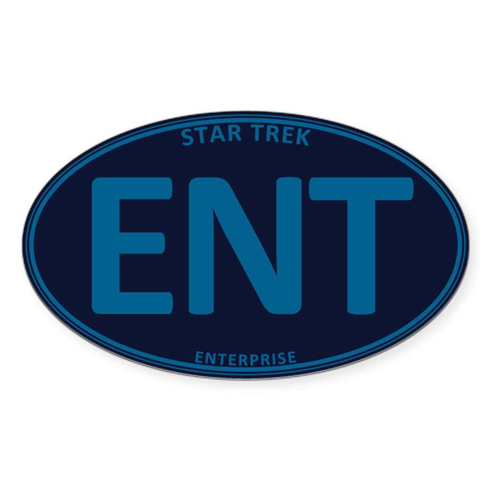 Star Trek: ENT Blue Oval Oval Sticker