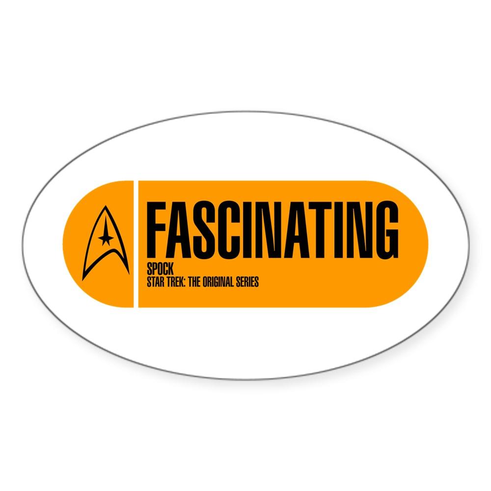 Fascinating - Star Trek Quote Oval Sticker