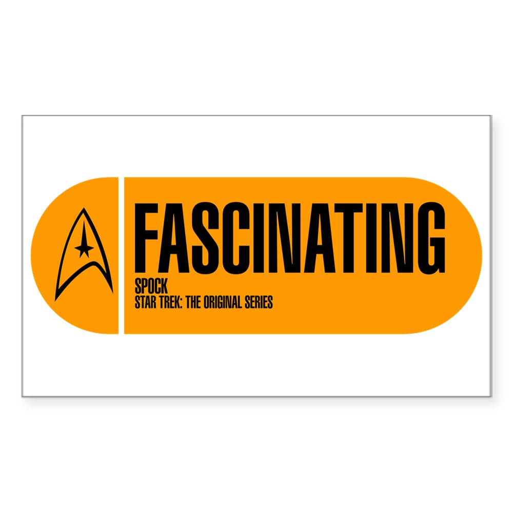 Fascinating - Star Trek Quote Rectangle Sticker