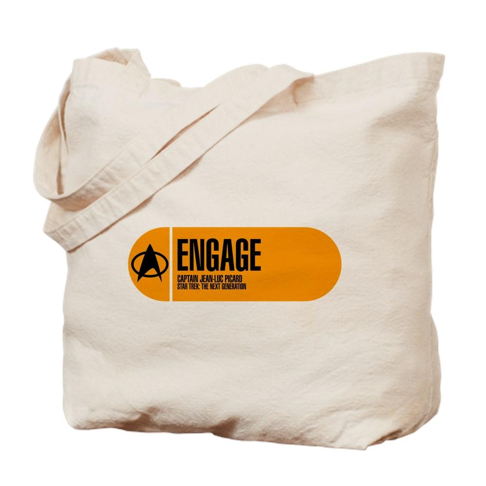 Engage - Star Trek Quote Tote Bag
