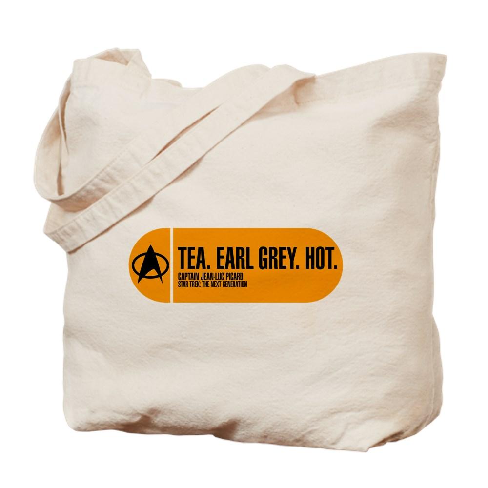Tea. Earl Grey. Hot. - Star Trek Quote Tote Bag