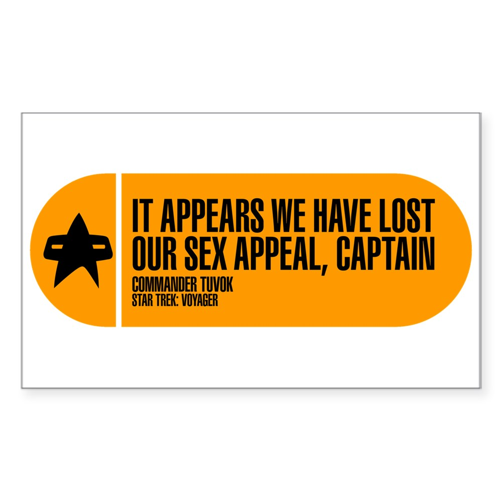 It Appears We Have Lost Our Sex Appeal - Star Trek Rectangle Sticker