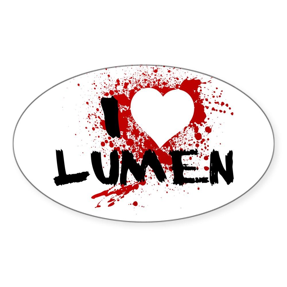 I Heart Lumen - Dexter Oval Sticker