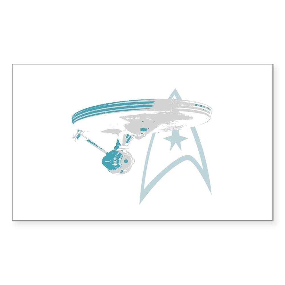 Star Trek Enterprise NCC-1701 Rectangle Sticker