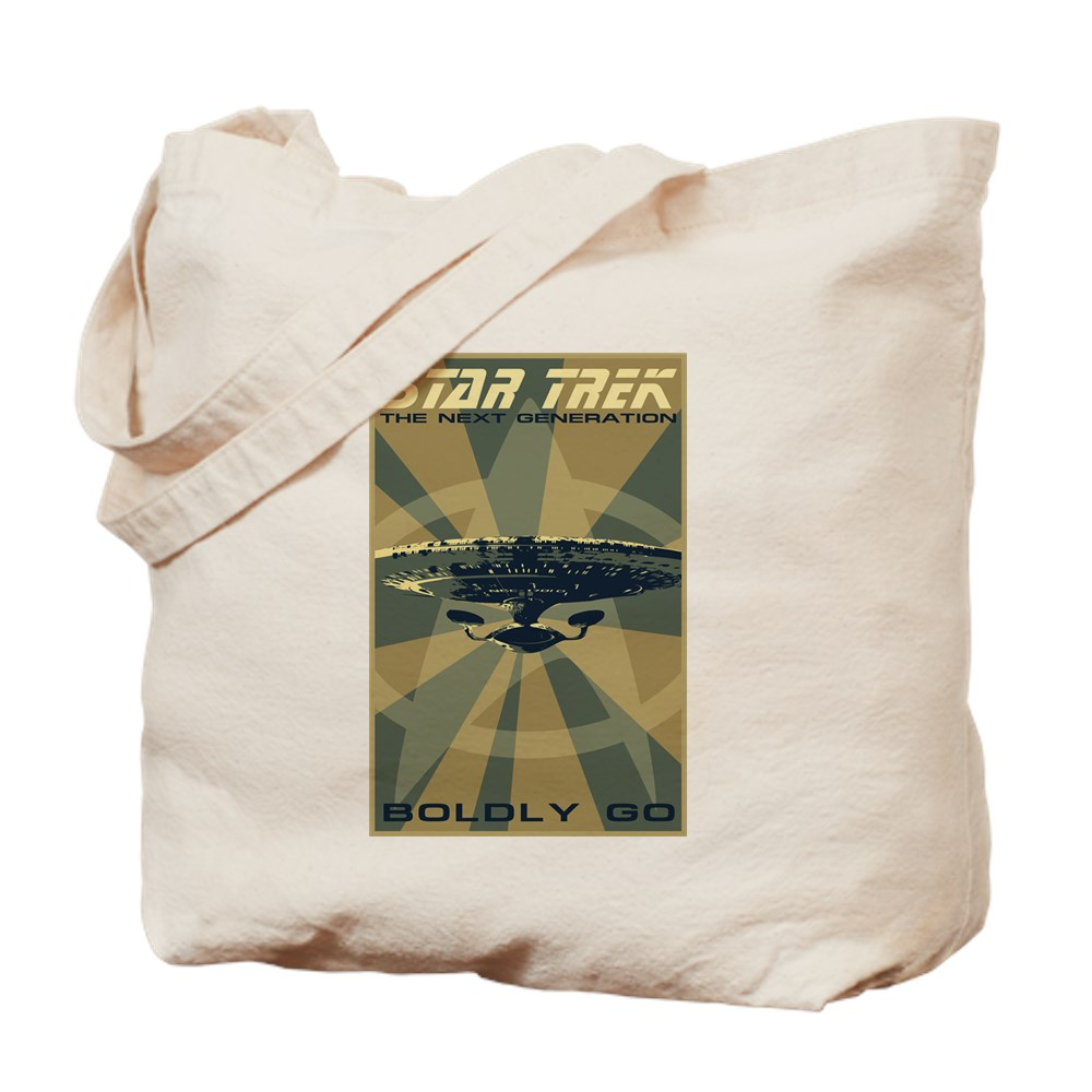 Retro Star Trek: The Next Generation Poster Tote Bag