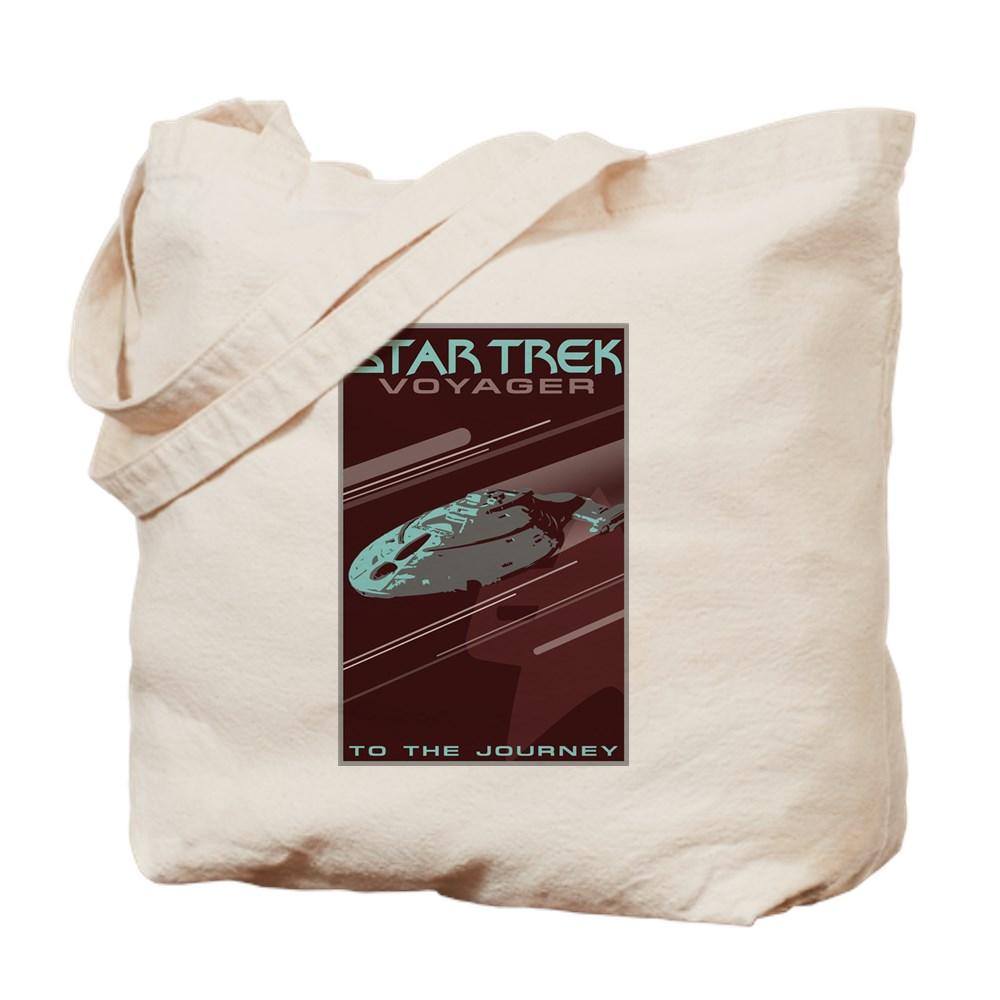 Retro Star Trek: Voyager Poster Tote Bag