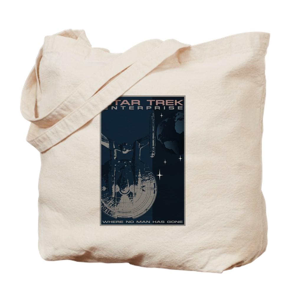 Retro Star Trek: Enterprise Poster Tote Bag