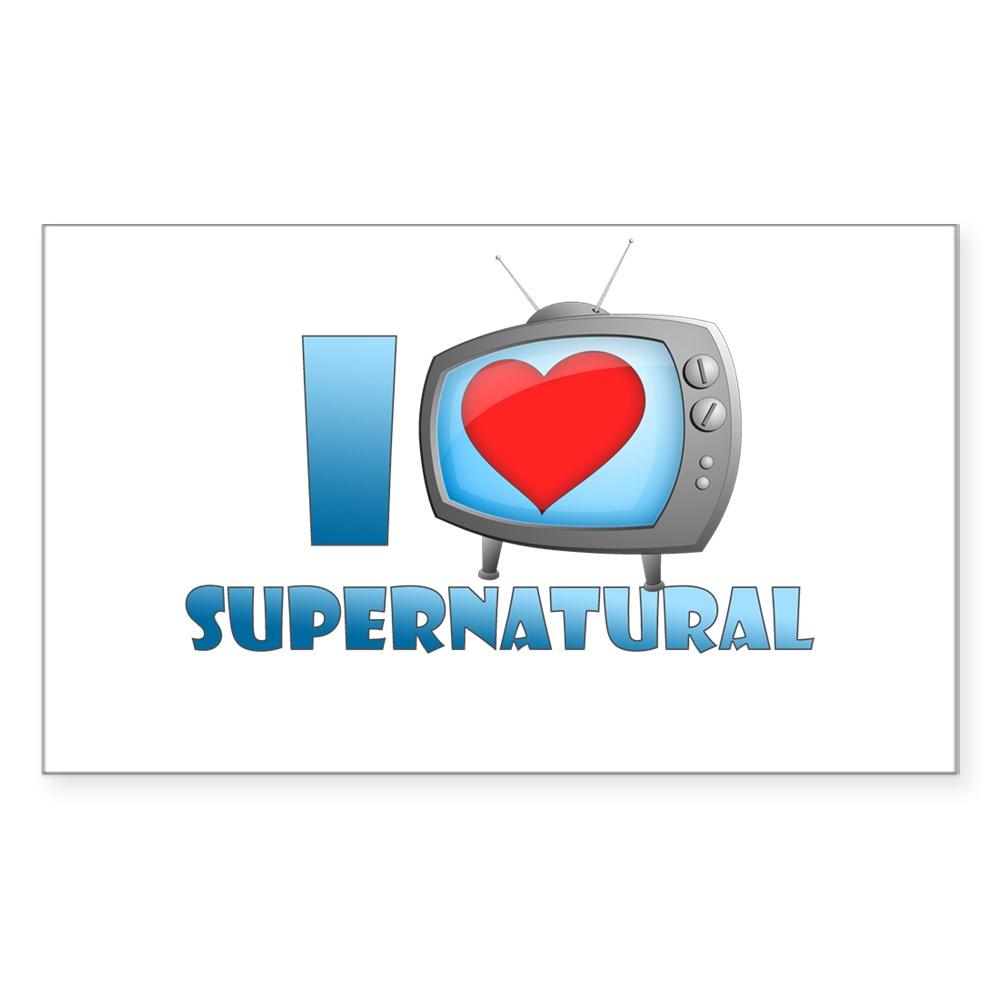 I Heart Supernatural Rectangle Sticker