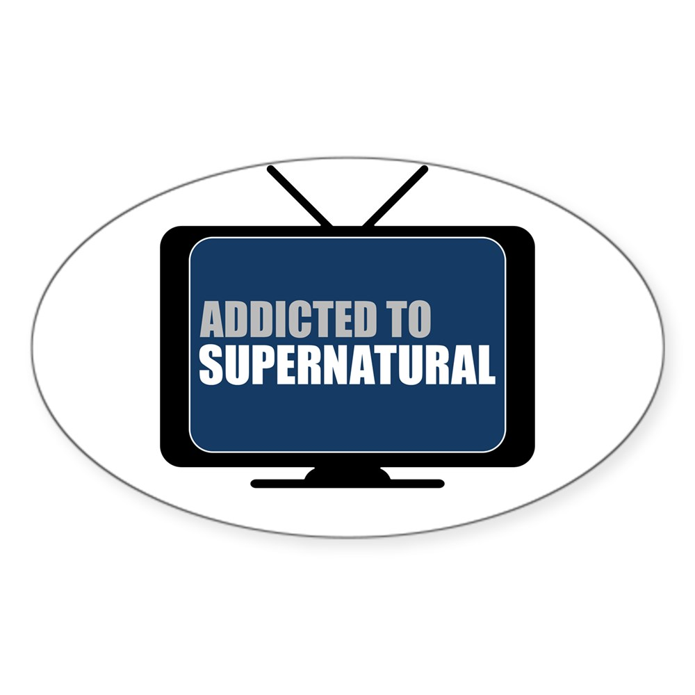 Addicted to Supernatural Oval Sticker