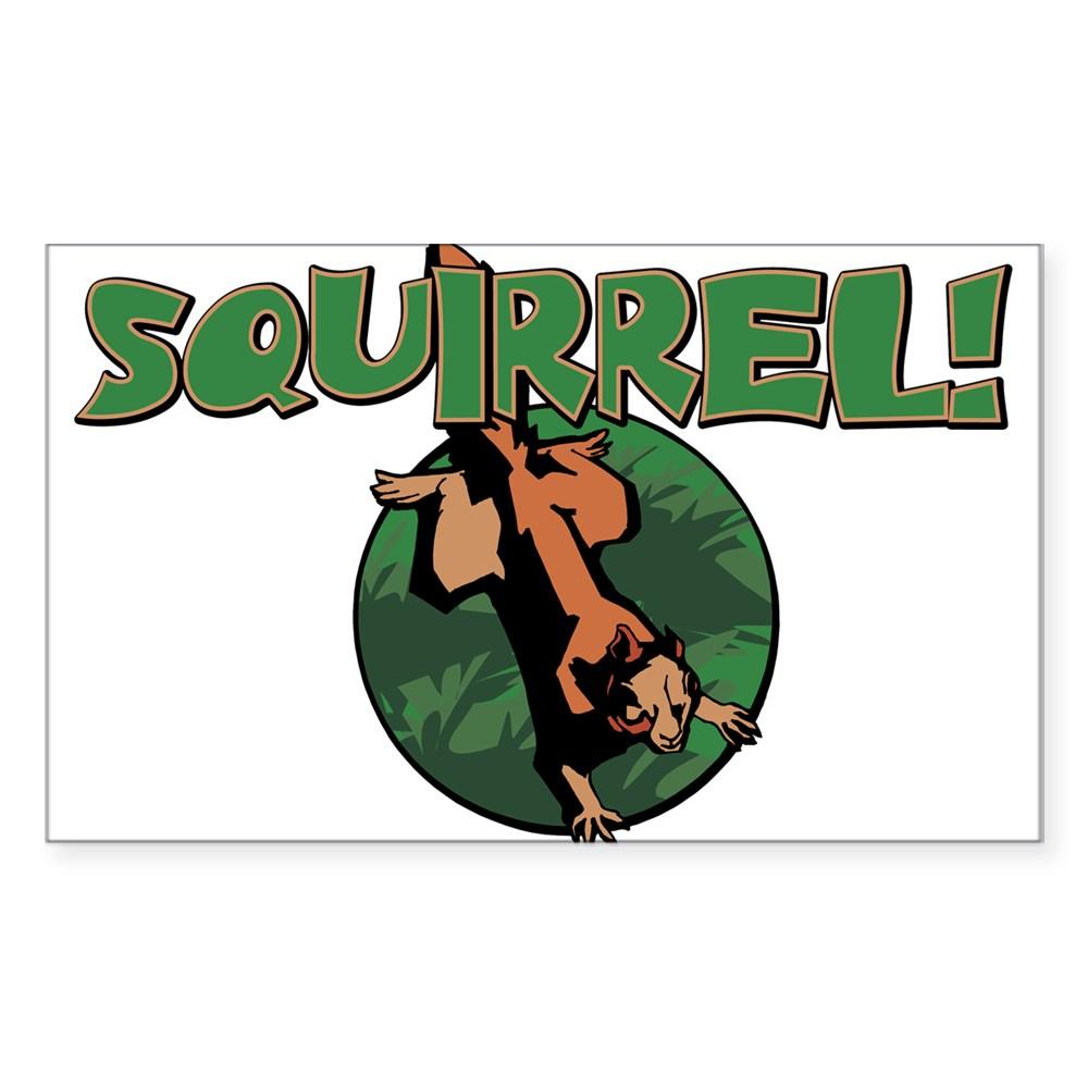 Squirrel! Rectangle Sticker