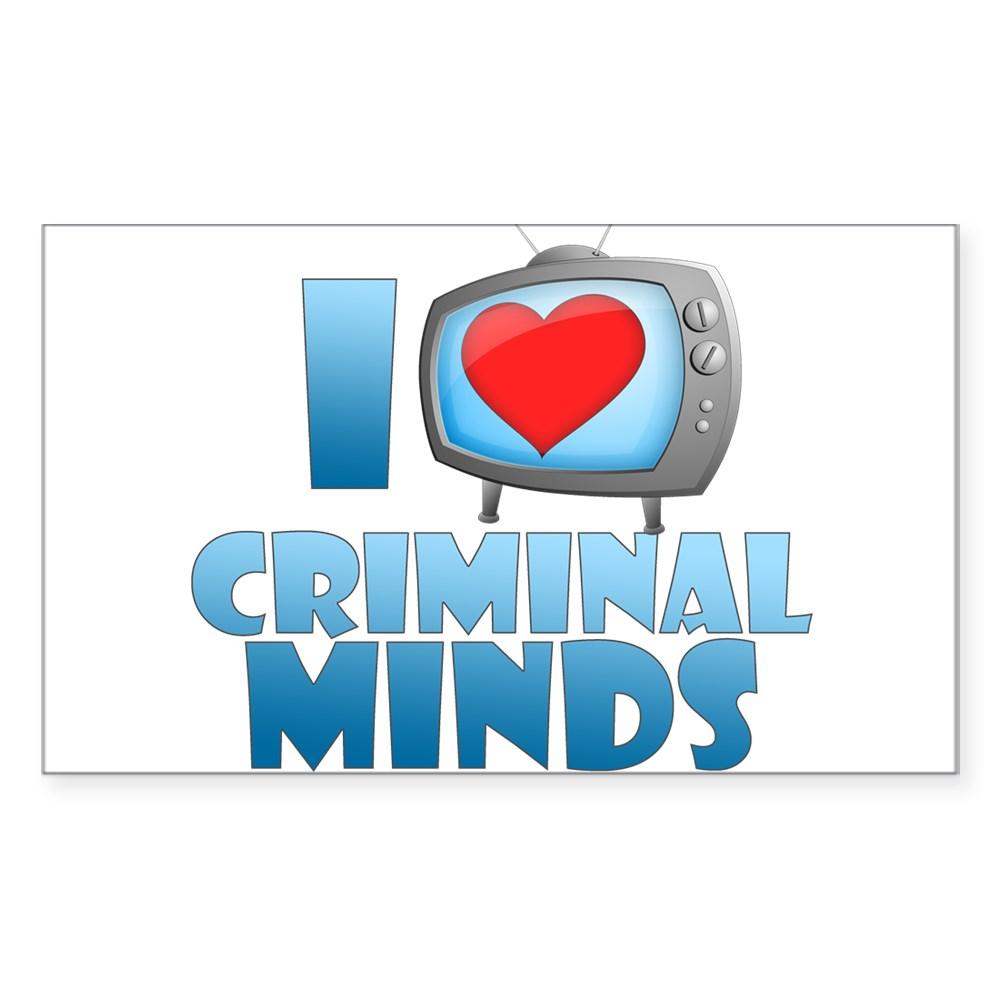 I Heart Criminal Minds Rectangle Sticker