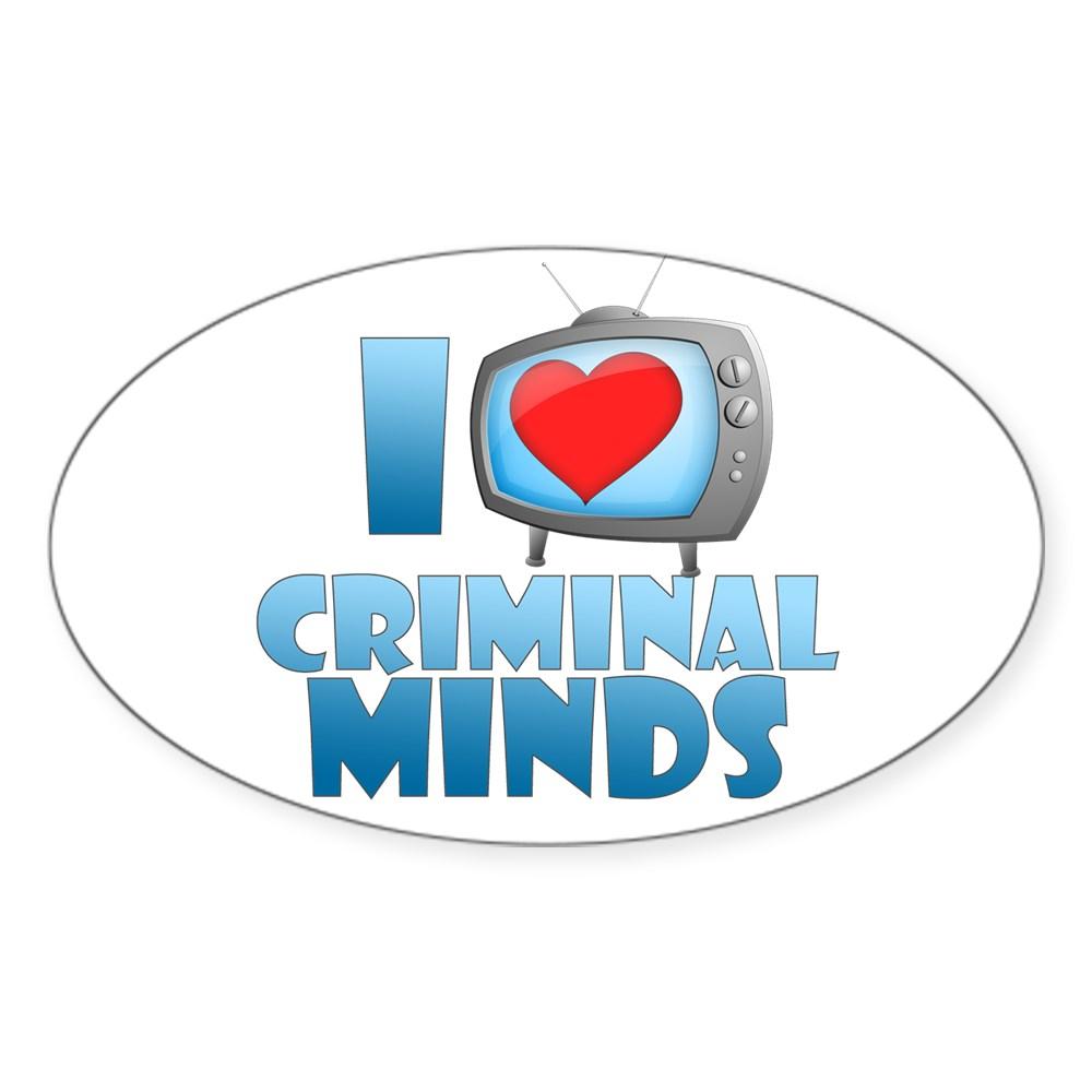 I Heart Criminal Minds Oval Sticker