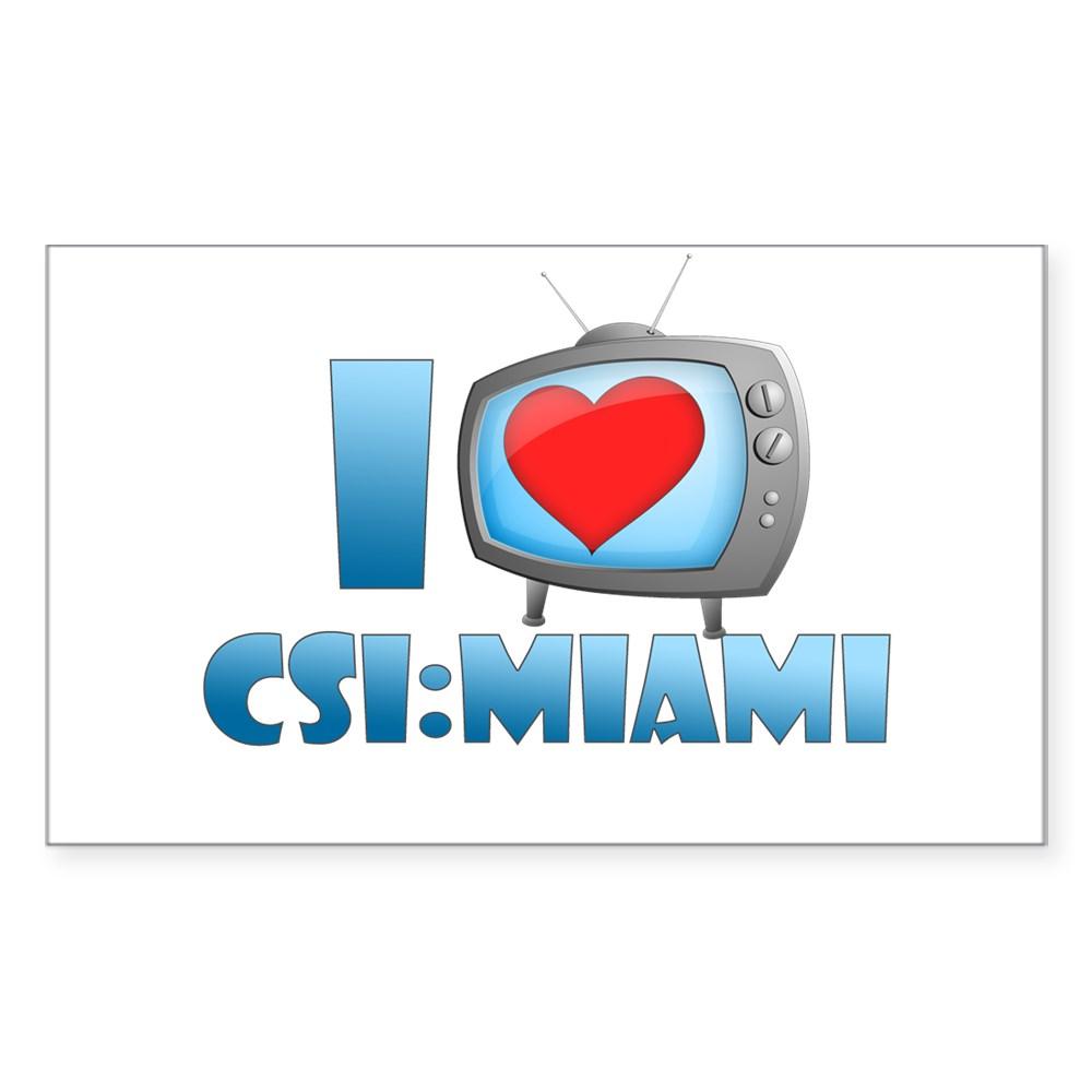 I Heart CSI: Miami Rectangle Sticker