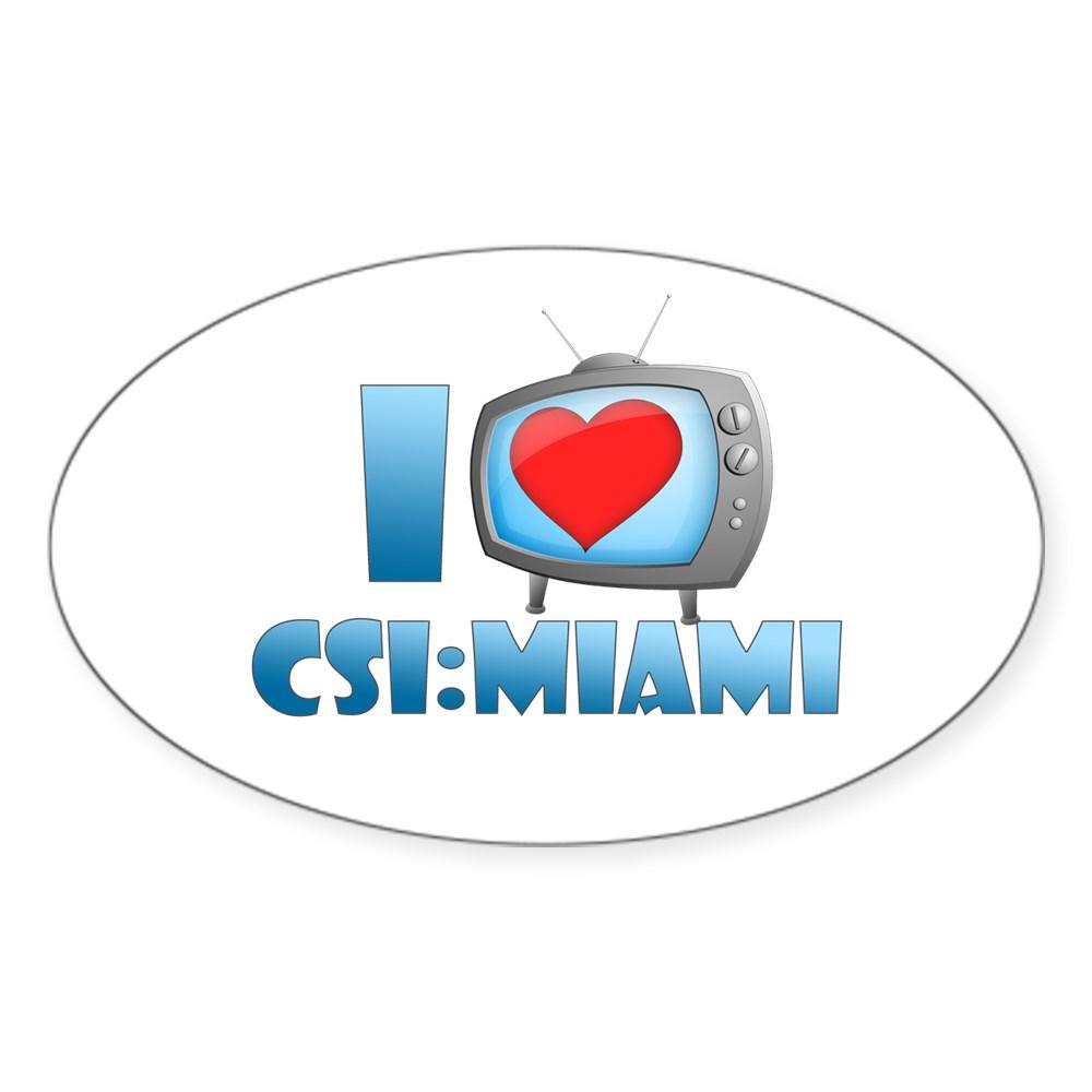 I Heart CSI: Miami Oval Sticker