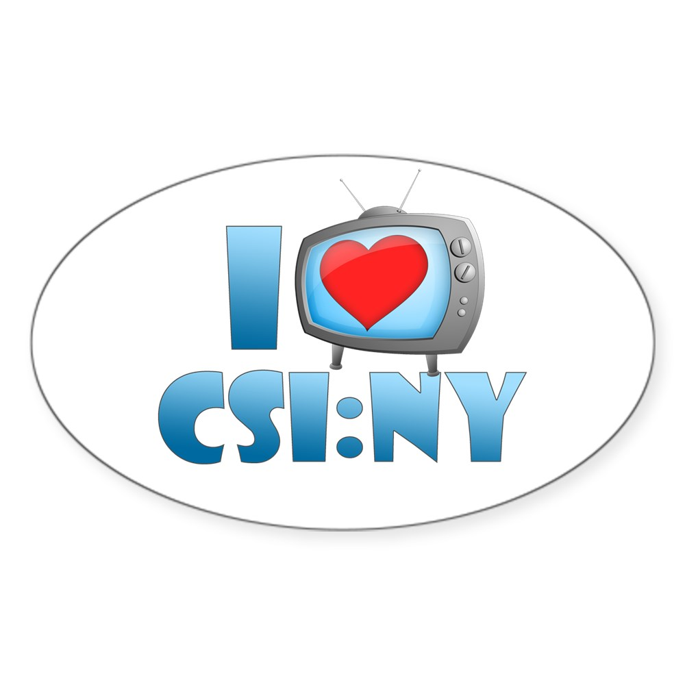 I Heart CSI: NY Oval Sticker