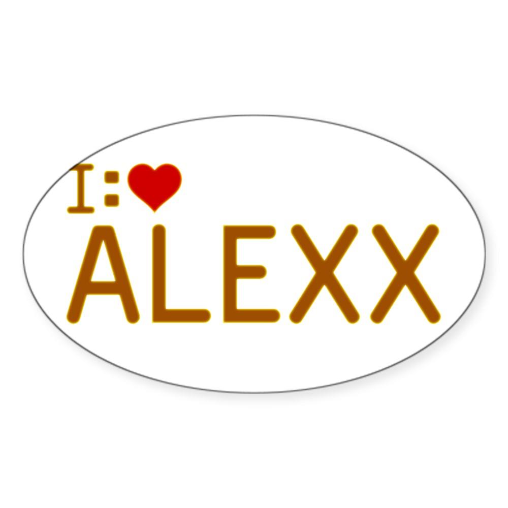 I Heart Alexx Oval Sticker