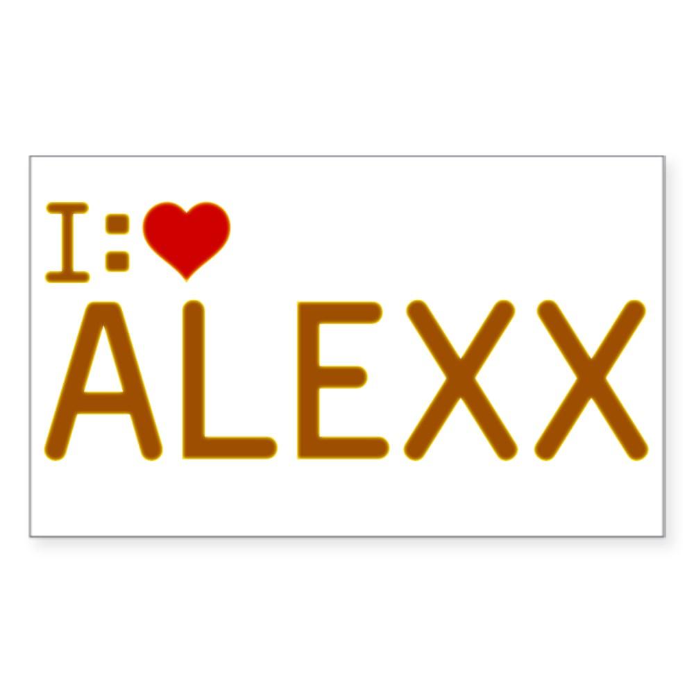 I Heart Alexx Rectangle Sticker