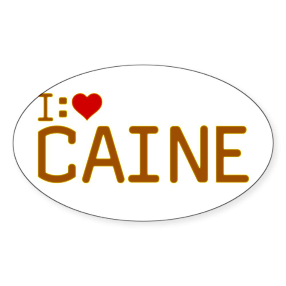 I Heart Caine Oval Sticker