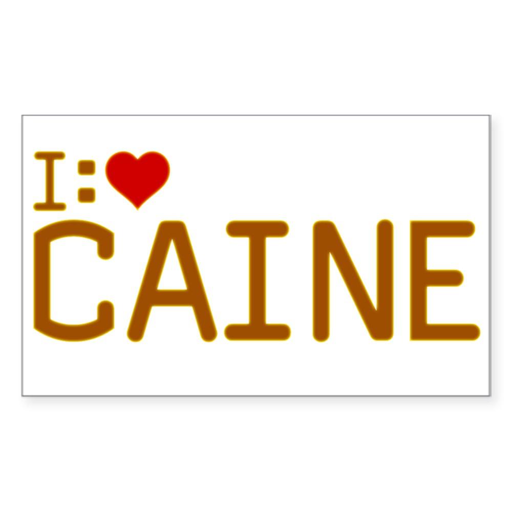 I Heart Caine Rectangle Sticker