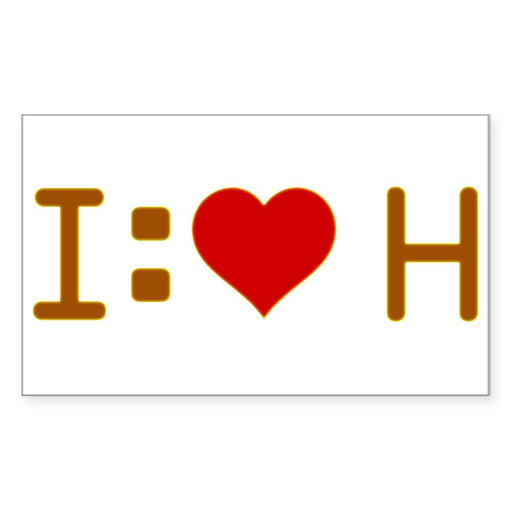 I Heart H Rectangle Sticker