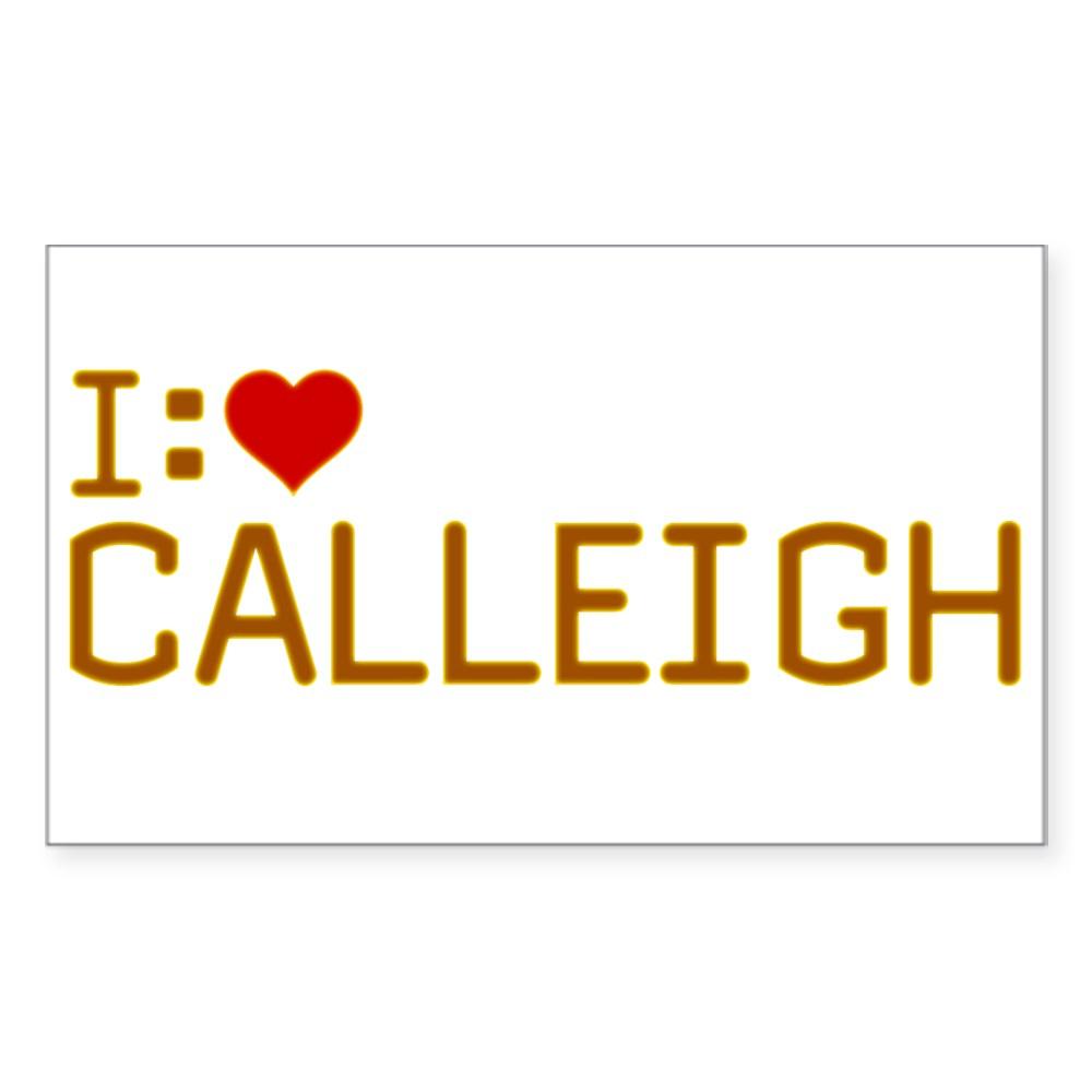 I Heart Calleigh Rectangle Sticker